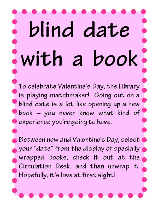 essays on what is a blind date Blind date  blind dates are always interesting because you never know what the person is going to be like until you actually spend time with them and communicate - blind date introduction.