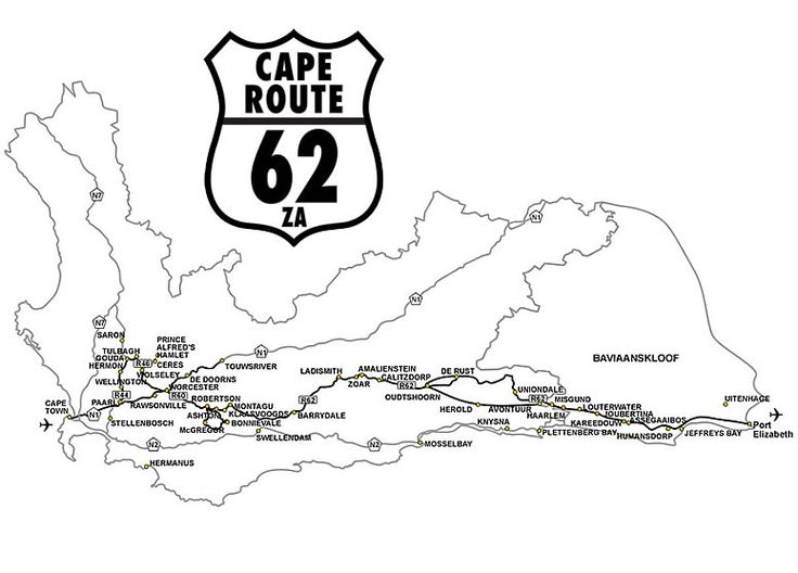 Cape Route 62 Map