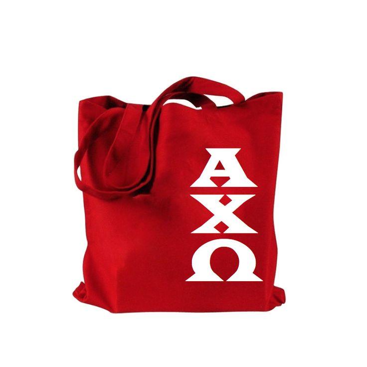 Alpha Chi Omega Bag . Block Greek Letters