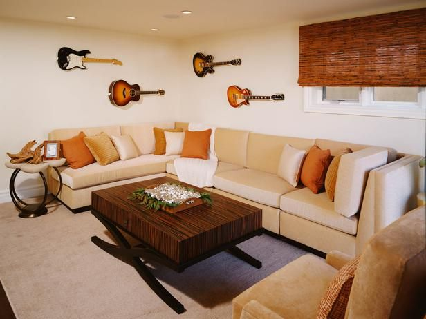 Simple. Colorful. Small but roomy. Natural colors.  Contemporary Living-rooms from Sarah Barnard on HGTV