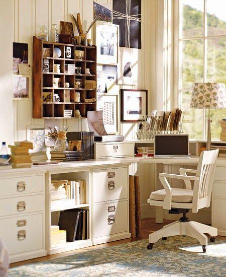 krem rengi ev ofisi dekorasyonu