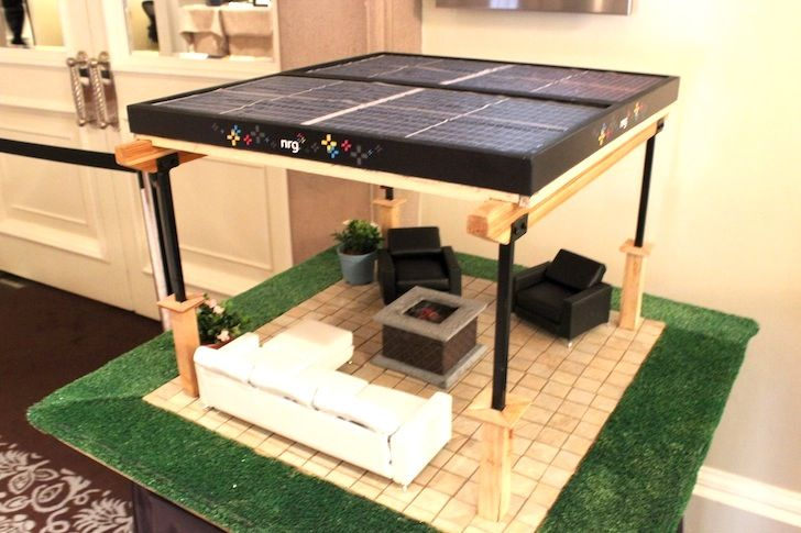 NRG's prefab solar pergola unveiled at Fortune's Brainstorm green conference in California