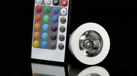 16 Farbwechsel E27 IR Fernbedienung 3W RGB LED für 9,95 !!