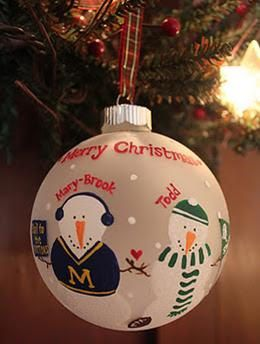 A House Divided Rivalry Ornament MSU/Michigan by meganelene, $19.00