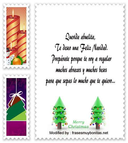 mensajes para enviar en Navidad, poemas para enviar en Navidad: http://www.frasesmuybonitas.net/mensajes-de-navidad-para-los-abuelos/