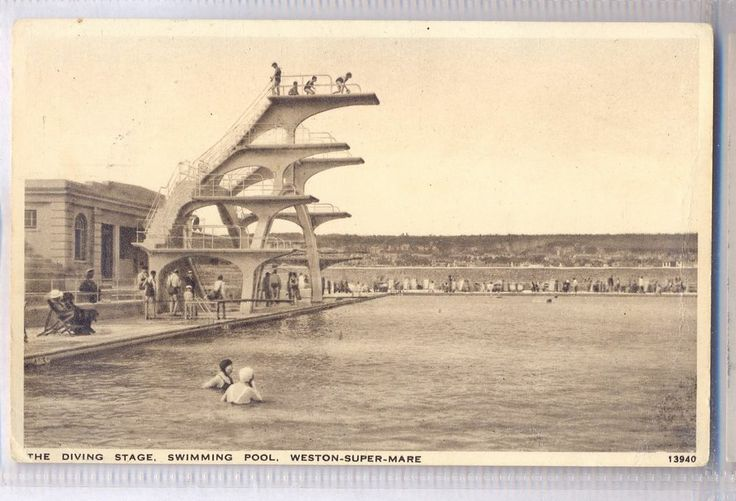 Weston Super Mare Somerset The Diving Stage Open Air Swimming Pool