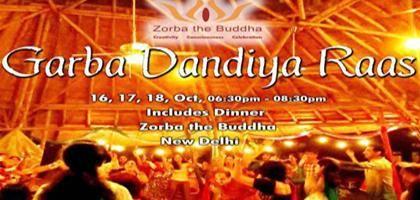 Garba Dandiya Raas 2015 in New Delhi at Zorba the Buddha on 16 to 18 October  http://www.nrigujarati.co.in/Topic/3926/1/garba-dandiya-raas-2015-in-new-delhi-at-zorba-the-buddha-on-16-to-18-october.html