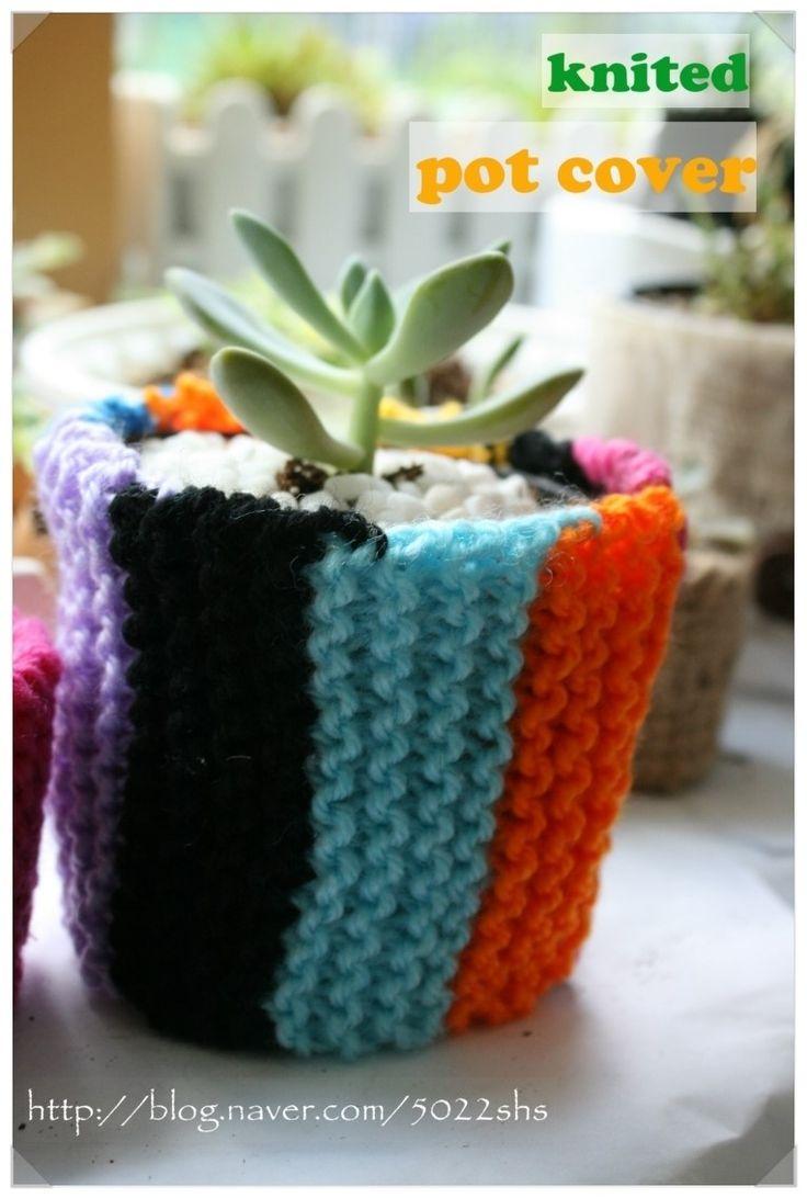 How to make... knit DIY gift pot cover  http://blog.naver.com/5022shs/220162249543