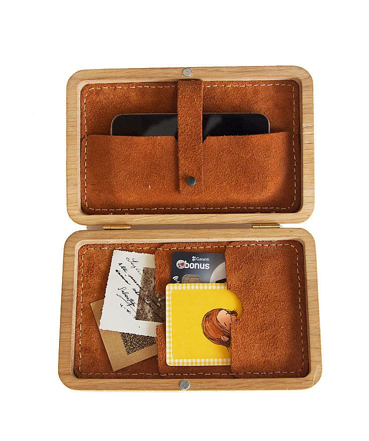 GRAV GRAV - Embroidered Wooden Wallet $199