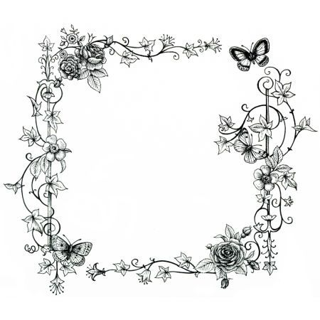 Lisa Alderson - LA - Black And White Floral Border ...