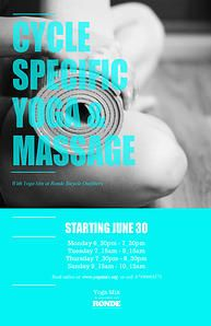 Cycle Specific Yoga at Ronde Bicycle Outfitters 4 times a week. #Stockbridge #Edinburgh #Yoga