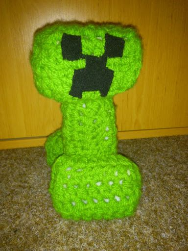 minecraft creeper crocheted for a friend
