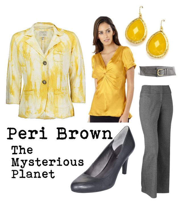 """Peri Brown (The Mysterious Planet)"" by doctorwhodressing ❤ liked on Polyvore featuring Daytrip, J by Jasper Conran, Apt. 9, Nine West and Fantasy Jewelry Box"