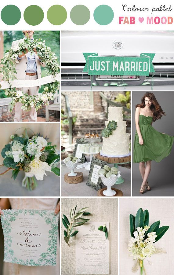 Green Wedding Colour Palette | fabmood.com