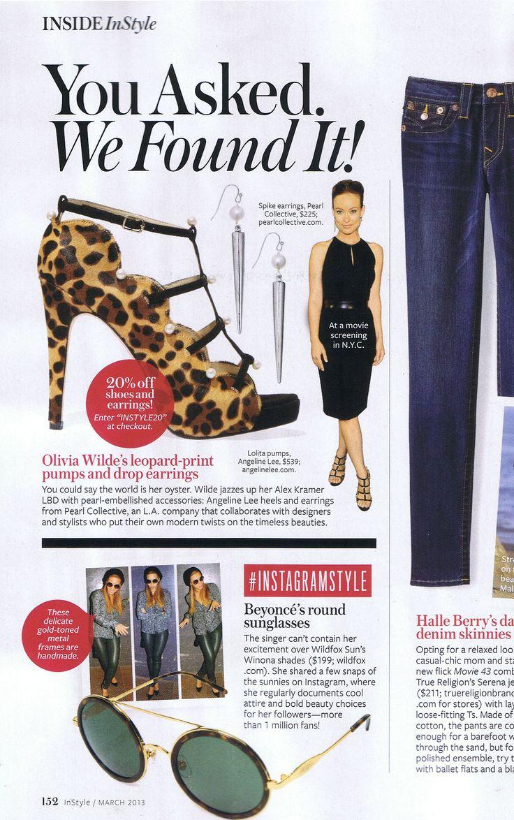 leopard print pearl heels olivia wilde as seen on summer platform