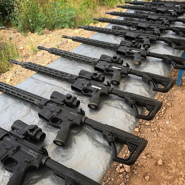 DD5V1's and DDM4 V7 pros ready to shoot at the third annual NRA World Shooting Challenge! #guns #ar #NRA #machinegun #danieldefense