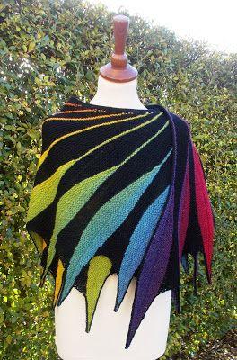 mijnbreiwereld: Zwarte regenboog Dreambird | Knitted ...