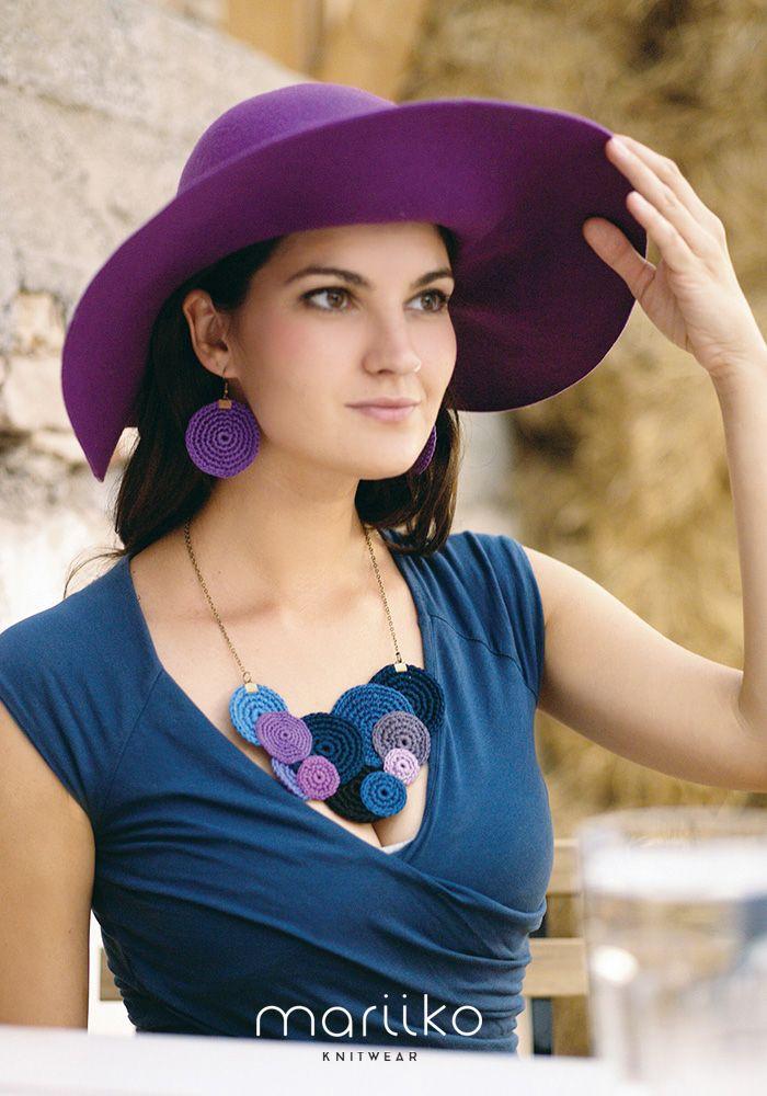 Crocheted Mariiko necklace as an elegant accessorie https://www.etsy.com/uk/shop/Mariiko