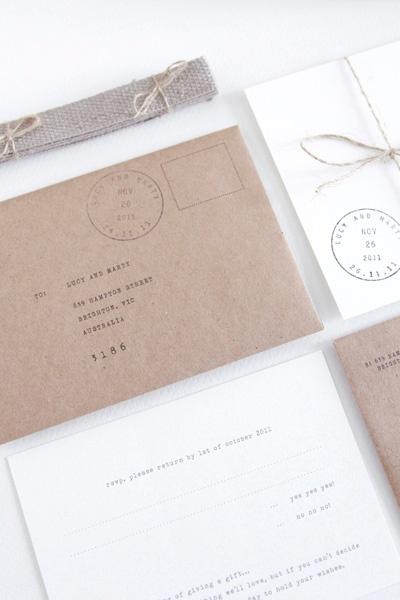 Simple. Brown paper #Invitations