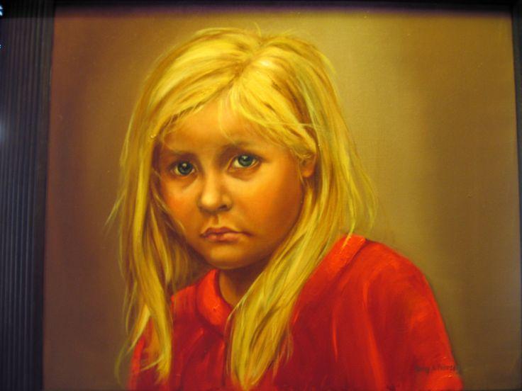 """ Little sunshine "" Oilpainting by Nansy N. Pedersen"