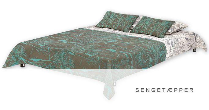 Sengetæpper. 6 designs, alle i forskellige farver. http://shop.kurage.dk/sovevaerelse/sengetaepper.html