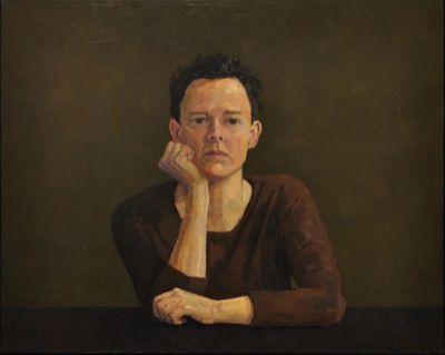 Rodgerson,Jenny Self Portrait Oil on linen Image Size: 61 x 76cm