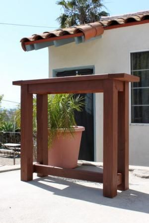 My First Project-Outdoor Bar-height Table   Do It Yourself Home Projects from Ana White