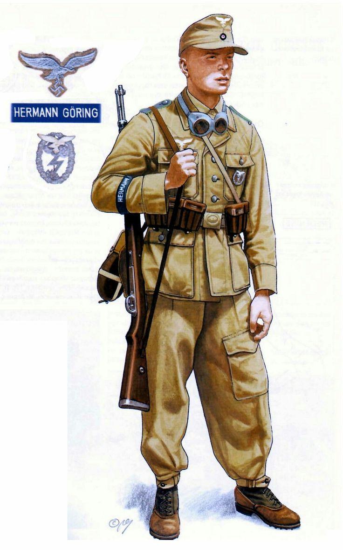 Paracaidista Aleman del regimiento Hermann Goering - German paratrooper from the regiment of the name of Hermann Goering