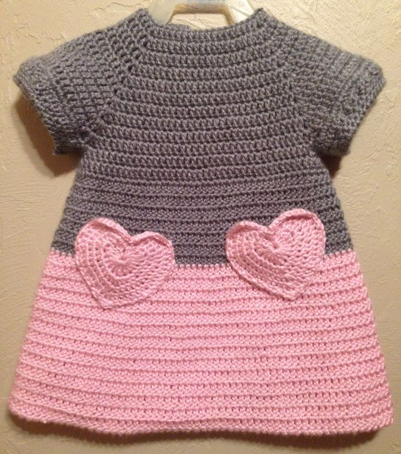 Soft Beautiful Crocheted Pink and Grey Baby by ItsOwlAboutYou, $16.00