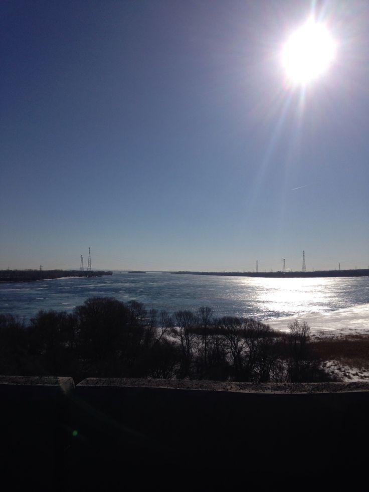 bon matin ! vue sur le pont Mercier