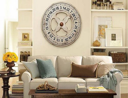 decorating tall walls | The Superb Of Enormous Wall Clocks To Brighten The House Of Your Walls