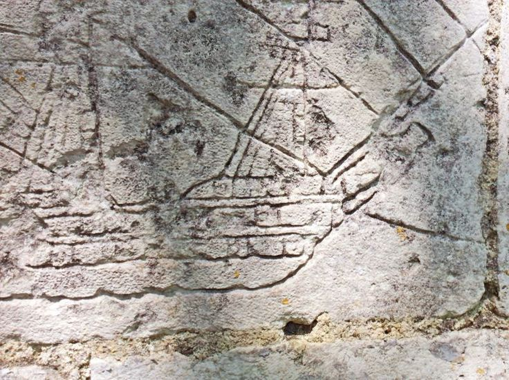 Un graffiti du mur des gabarriers de Saint-Simon, sur la rive droite de la Charente