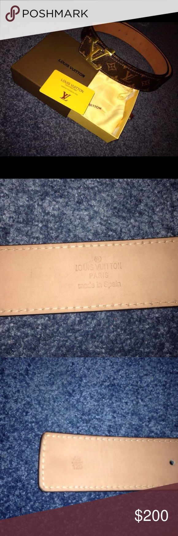 A real Louis Vuitton belt It's authentic comes with bag cover box and certificate card Louis Vuitton Accessories Belts