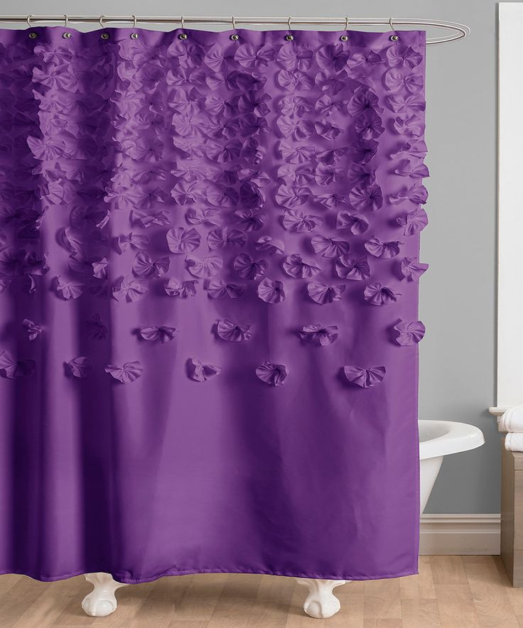 look at this zulilyfind purple lucia shower curtain by zulilyfinds