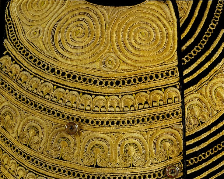 Waistcoat (detail), made in Finistere, 1870-1899
