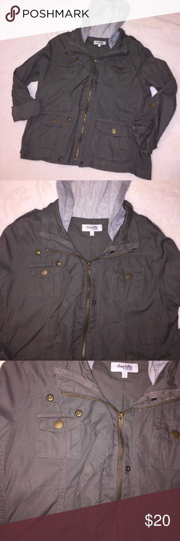 "NWOT women's utility jacket! NWOT adorable women's ""utility jacket"" ~ size small ~ from Charlotte Russe Charlotte Russe Jackets & Coats Utility Jackets"