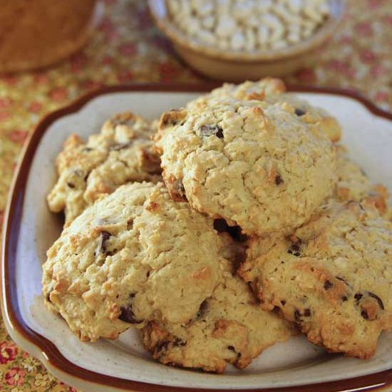 Navy Bean-Chocolate Chip Cookies Recipe   Have you tried baking cookies with navy beans? Give this recipe for navy bean cookies chock-full of chocolate chips a go.