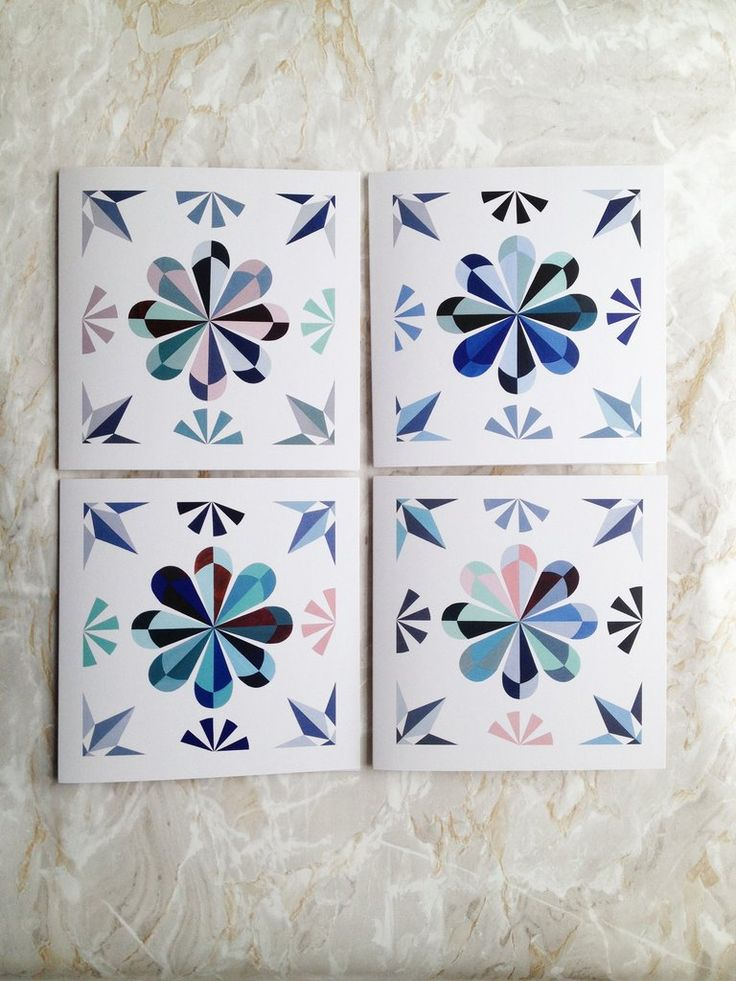 Fanø Tile Card Collection by Danish artist and designer Ditte Maigaard who runs the Ditte Maigaard Studio, Store and Online  Shop.