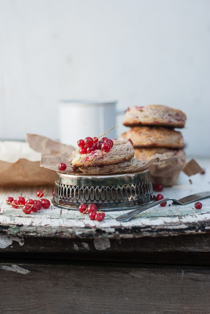FLAKY RED CURRANT CHEVRE SCONES WITH BLACK PEPPER AND CARDAMOM --- great way to use our currants!