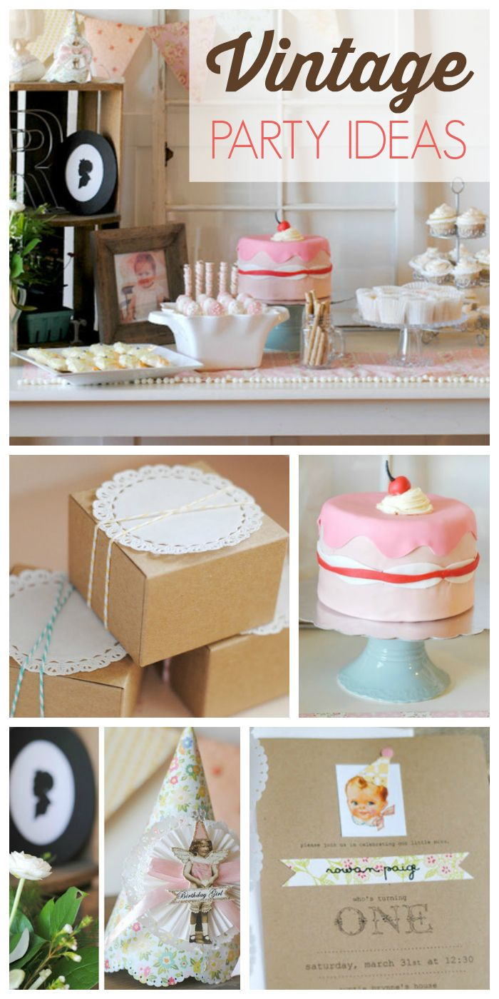 Most baby showers are hosted right around lunch time which can leave - So Many Lovely Vintage Elements At This Vintage Baby Birthday Party See More Party Ideas