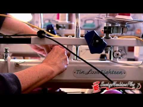 Threading/bobbin and top tension on Tin Lizzie 18 Long Arm Quilting Machine w/ Stitch Regulator & Frame