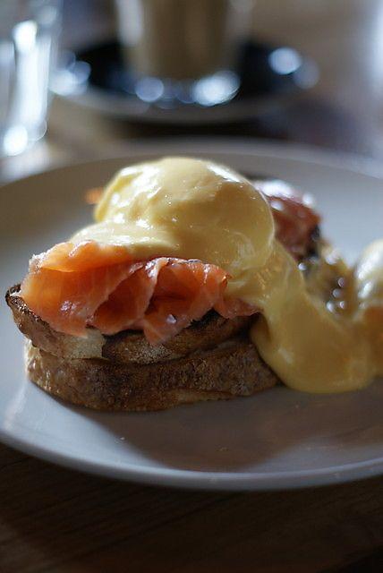 Eggs Benedict at Three Bags Full in Melbourne, Australia. #breakfast #eggsbenedict #wishlist