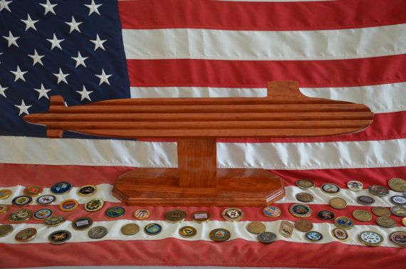Seawolf Class Submarine Coin Holder by UCCustomWoodworks on Etsy, $175.00