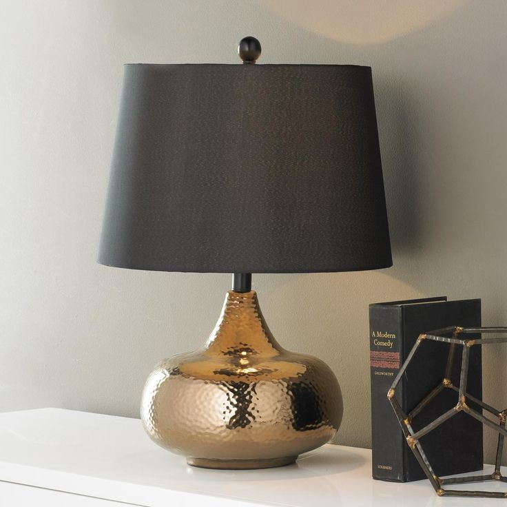 54 best table lamps dress up your room images on pinterest hammered bronze bulb table lamp mozeypictures Image collections