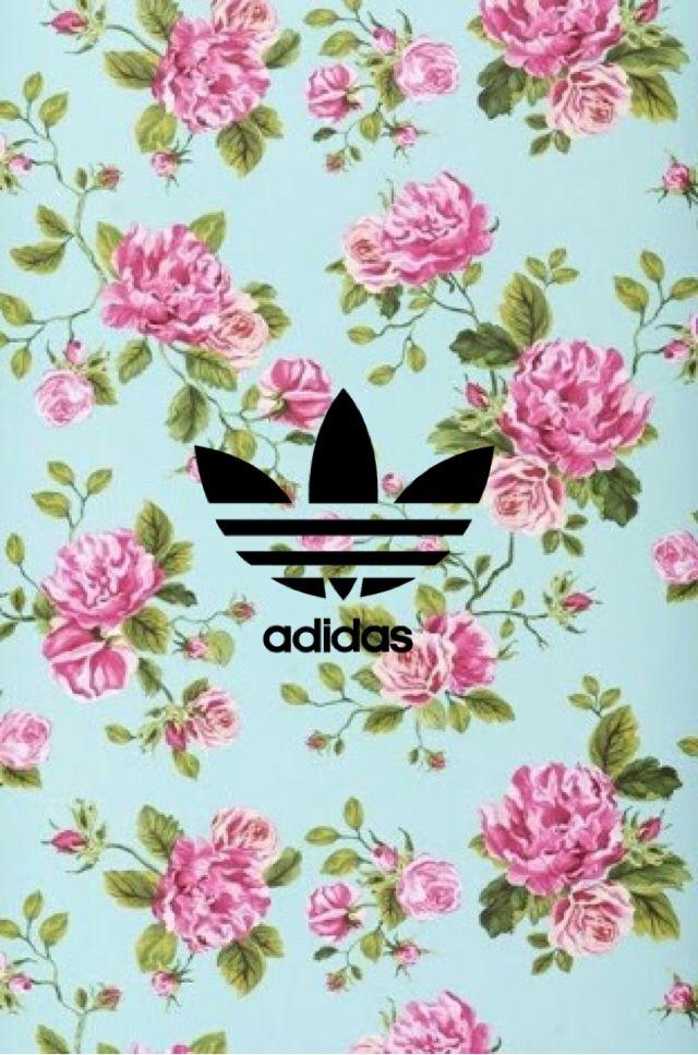 Adidas wallpaper flower
