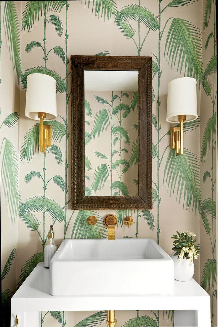 Beautiful Wallpaper Ideas Palm Wallpaper Tropical Wallpaper Tropical Bathroom