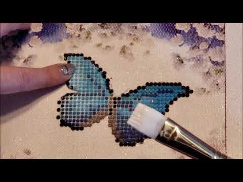 840439ee98 Sealing a diamond painting with Mod Podge Extreme Glitter! - YouTube ...