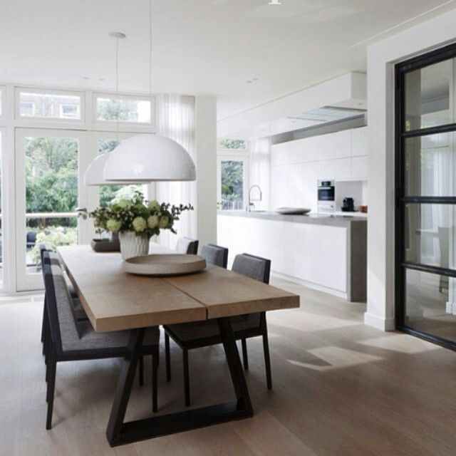 Like that kitchen extends beyond diningroom