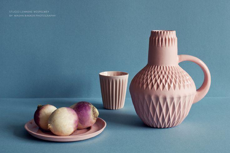 "#lennekewispelwey (plate ""medium"", cup ""star&stripes"", jug ""pour darling"")  picture by Masha Bakker Matijevic http://www.lennekewispelwey.nl/"
