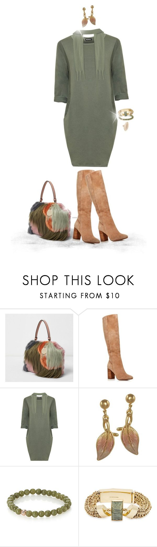 """""""Sweater Dress, Boots, & Faux Fur Purse"""" by joy2thahworld ❤ liked on Polyvore featuring River Island, Kenneth Cole, WearAll, Simons, Cornelia Webb, Alexis Bittar, Boots, contestentry, fauxfur and sweaterdresses"""